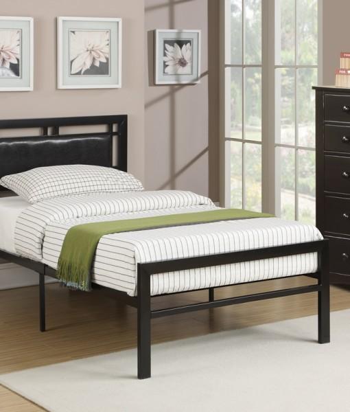 Platform bed black stage design for Stages bedroom collection