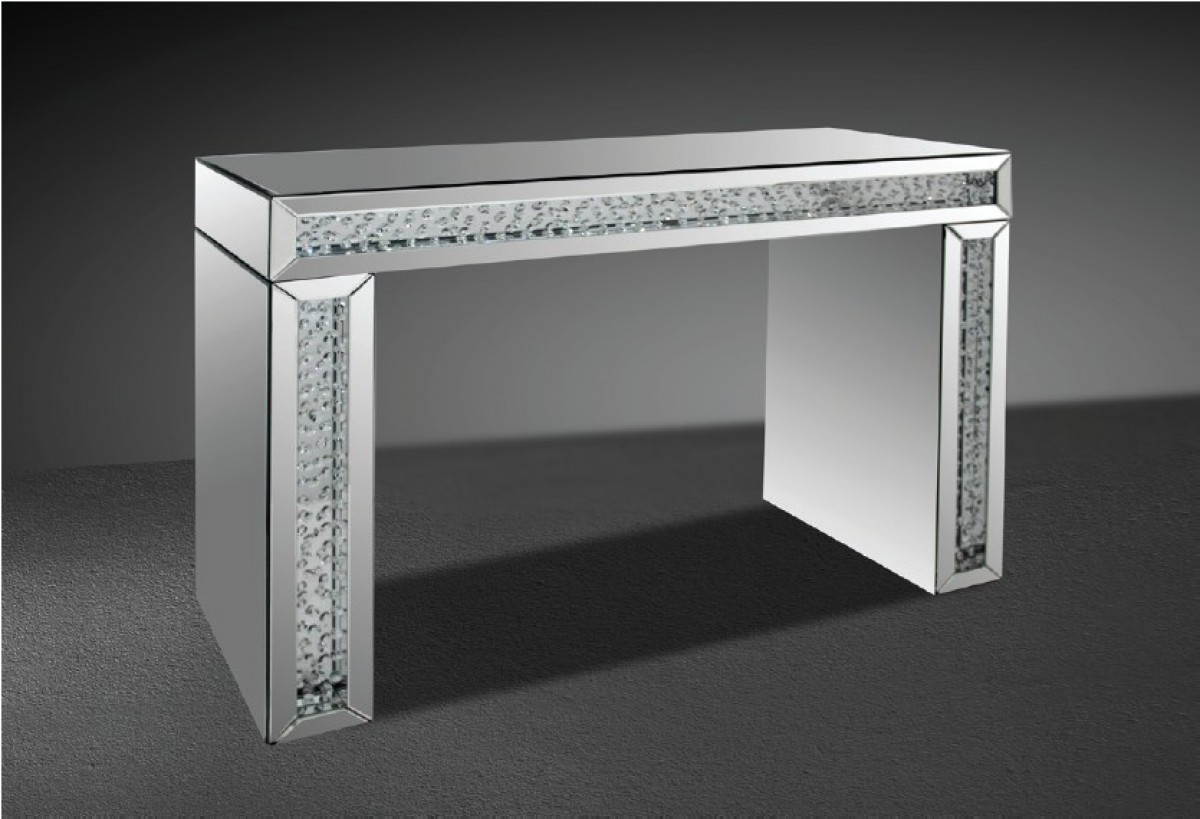 Modrest Glimmer Transitonal Mirrored Console Table With