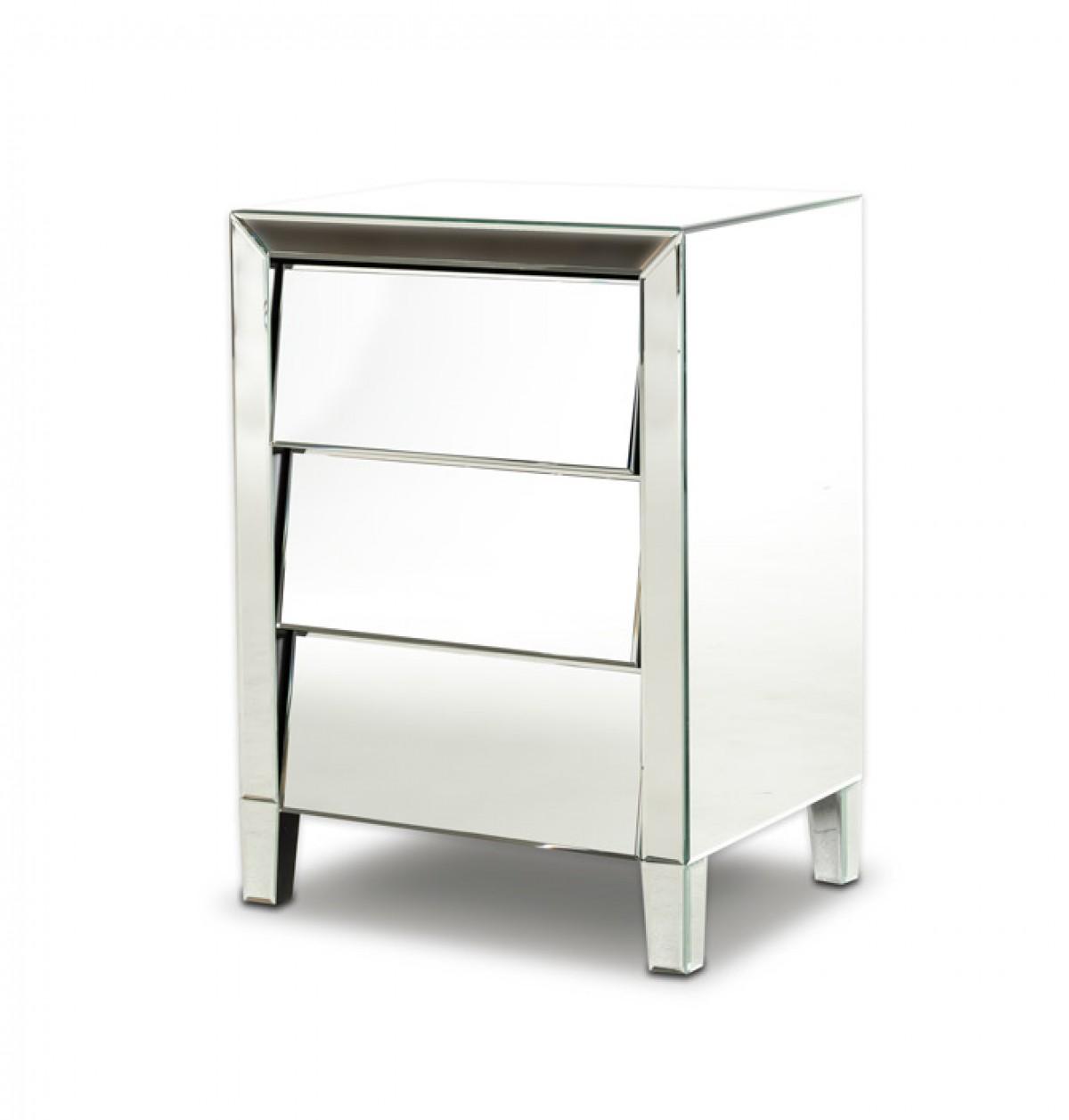 Modrest roanoke modern mirrored bedroom furniture for Mirrored bedroom furniture