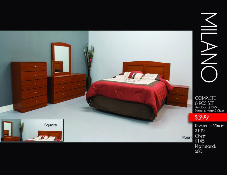 Milano 6 Pcs Bedroom Set Stage Design