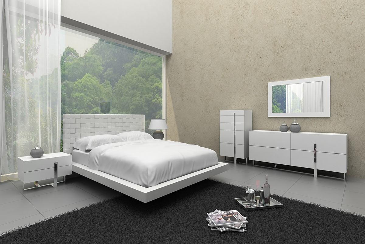 Voco Modern White Bedroom Set | Stage Design
