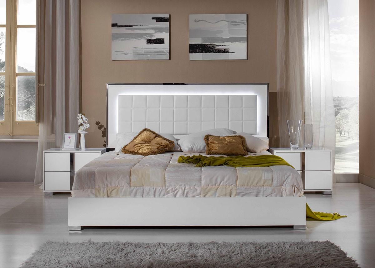 San Marino Modern White Bedroom Set | Stage Design