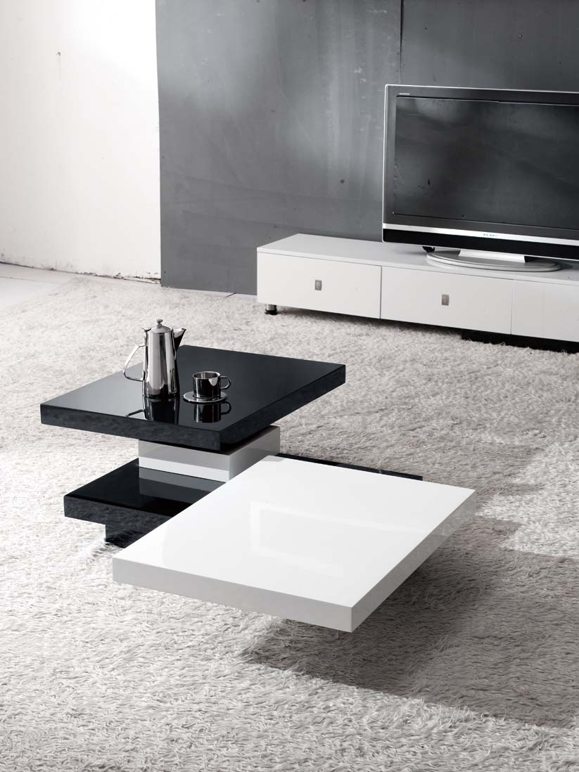 Square Modern Coffee Tables Stage Design Miami Furniture