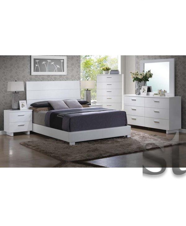 White Gloss MODERN Bedroom Set